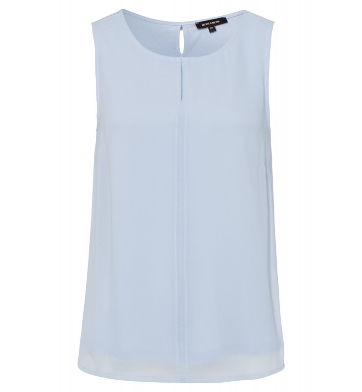 Top mit Chiffonfront, summer blue 01040562-0314 1