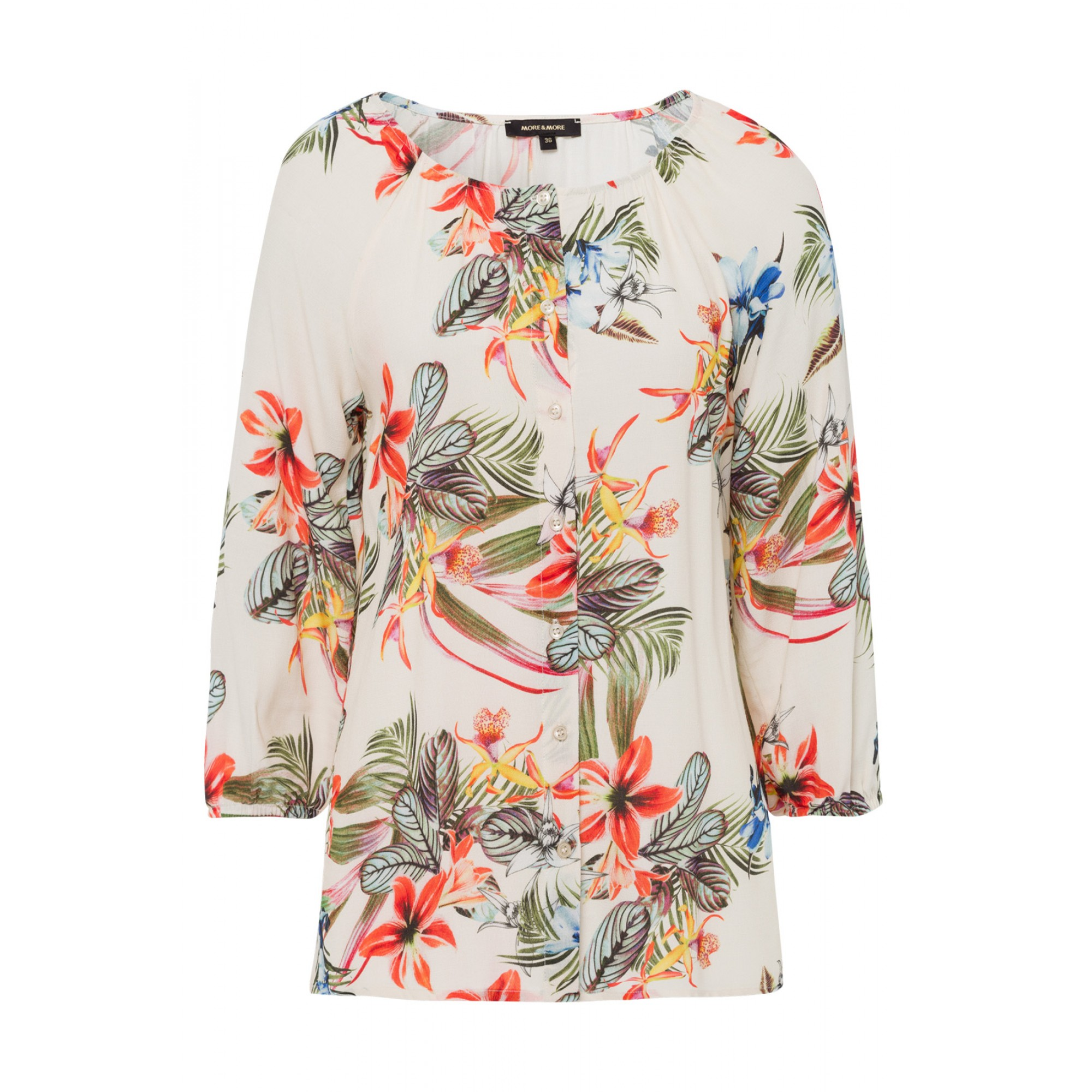 Bluse, tropical summer, ecru 01052002-5041 1