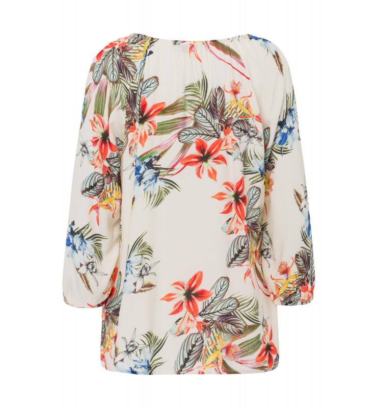 Bluse, tropical summer, ecru 01052002-5041 2