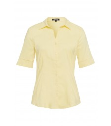 Baumwoll/Stretch Bluse, pastel yellow