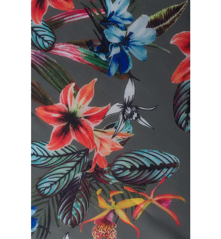 Printschal, tropical summer, khaki 01059006-5666 2