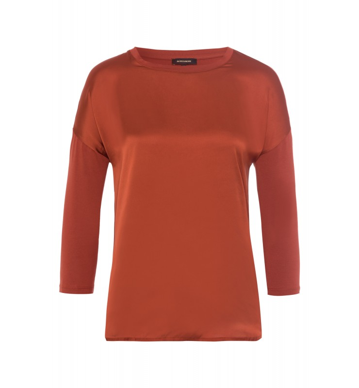 Shirt, Satinfront, terracotta 01080051-0473 1