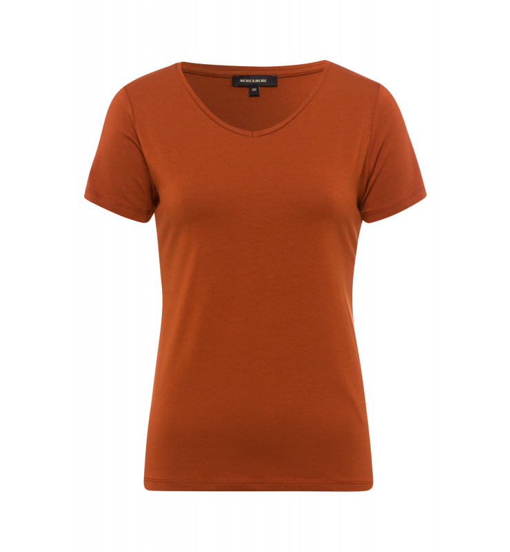 T-Shirt, V-Neck, terracotta 01080074-0473 1