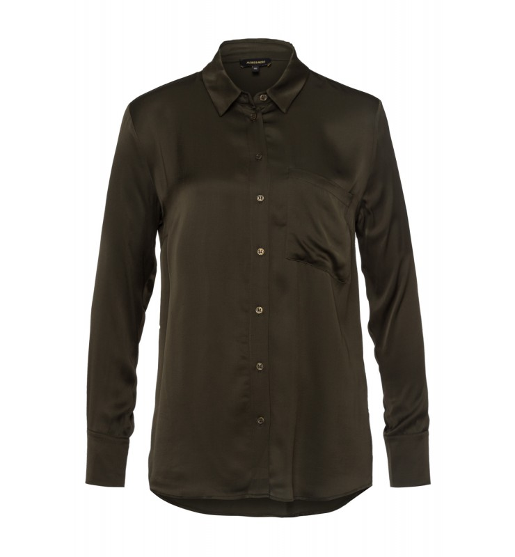 Satinbluse, dark olive 01082056-0678 1