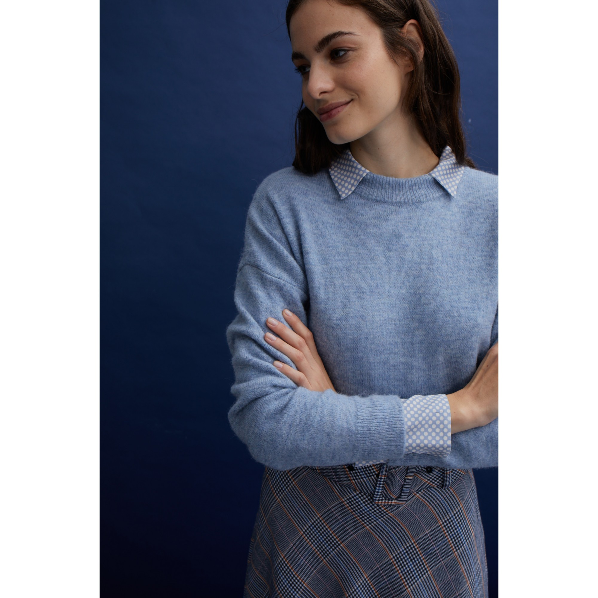 Pullover, cloudy blue 01111008-0317