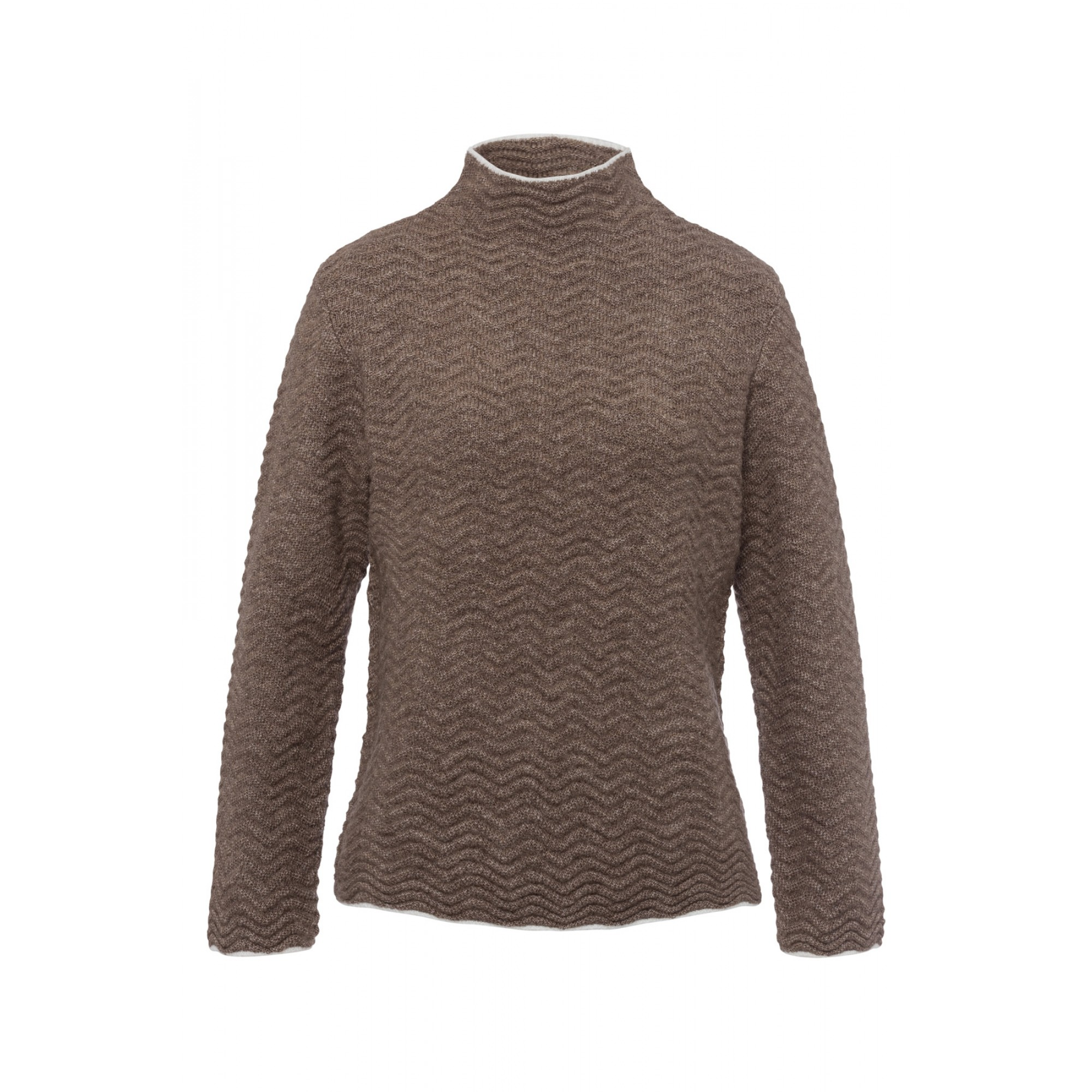 Pullover, Wellenstrick, taupe 01641096-0220 1