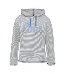 Sweatshirt, fein gestreift