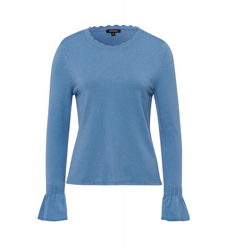 Feinstrick-Pullover, dusty blue 11011014-0325 1