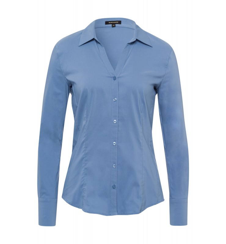 Businessbluse, dusty blue 11012572-0325 1