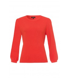 Struktur-Pullover, milky orange