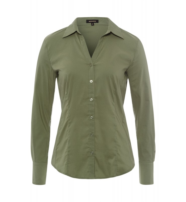 Businessbluse, khaki 11022572-0635 1