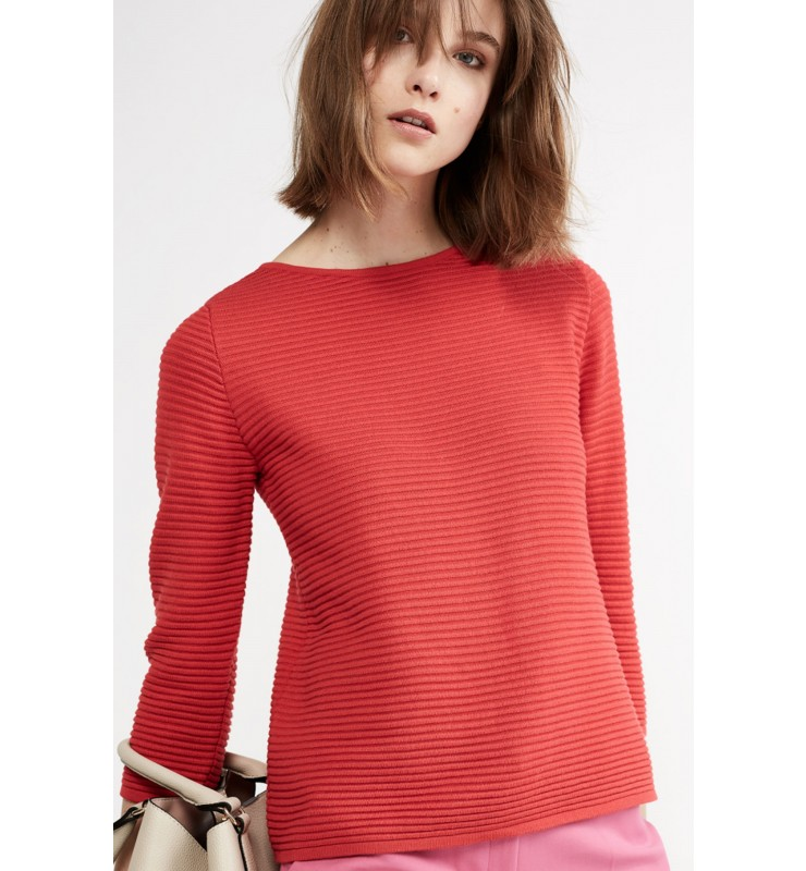 Ottoman-Pullover, rot