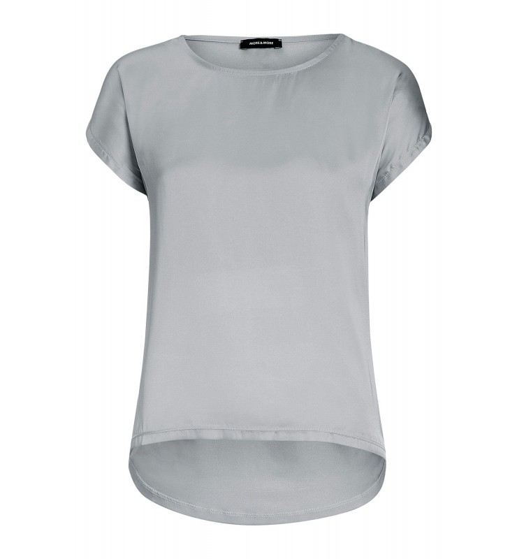 Shirt mit Satinfront, warm grey