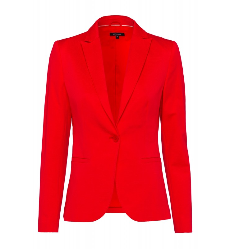 piqu blazer rot damen blazer blusen tuniken. Black Bedroom Furniture Sets. Home Design Ideas