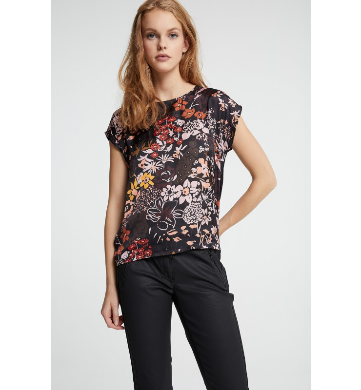Shirt, Satinfront, Flowers 81090008-3790