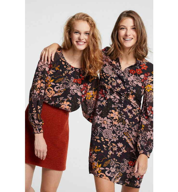 Chiffonbluse, Autumn-Flowers 81092001-3790 3