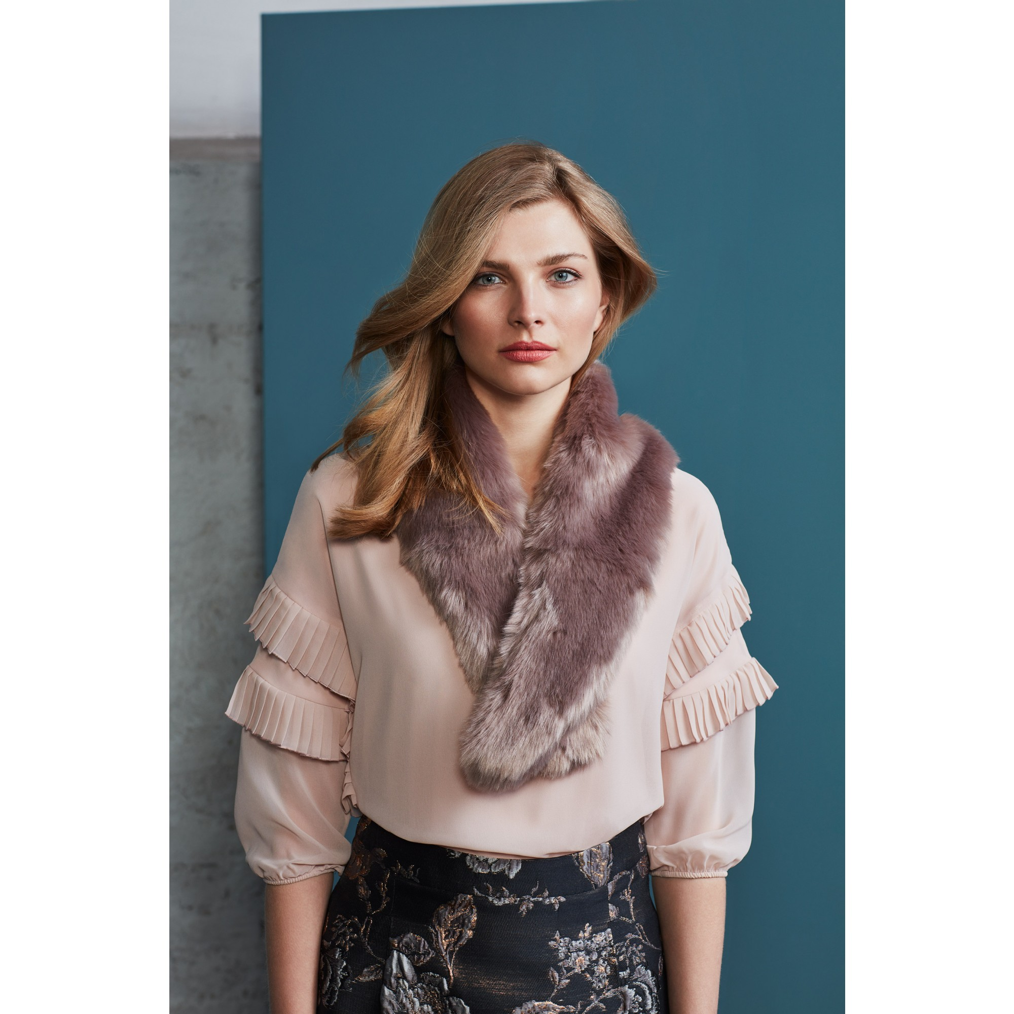 Fake-Fur-Kragen, taupe 85658080-0800