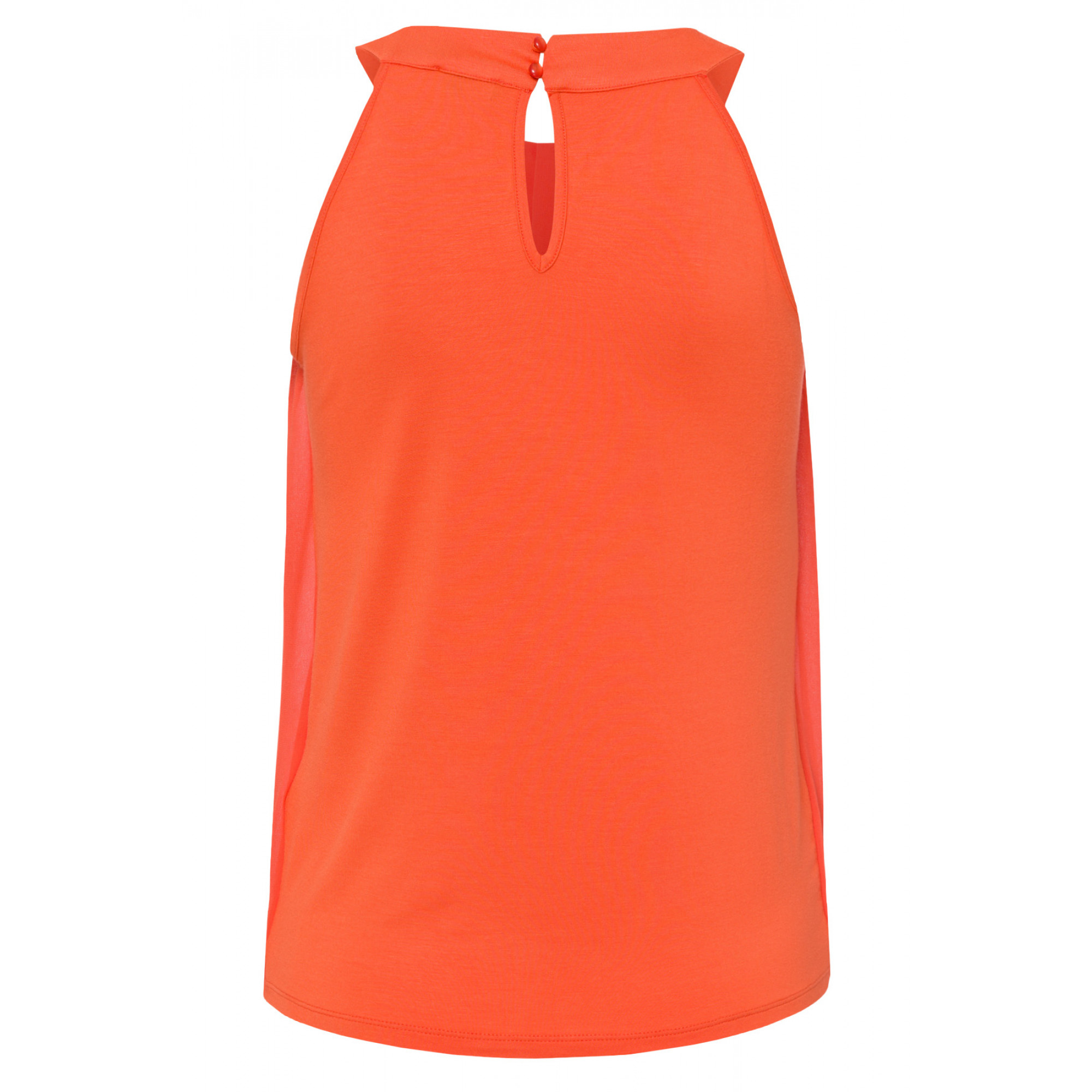 Top mit Chiffonfront, papaya 91040527-0514 2