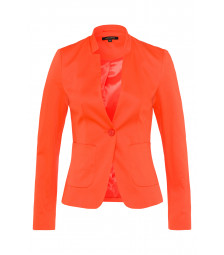 Baumwoll/Stretch Blazer, papaya