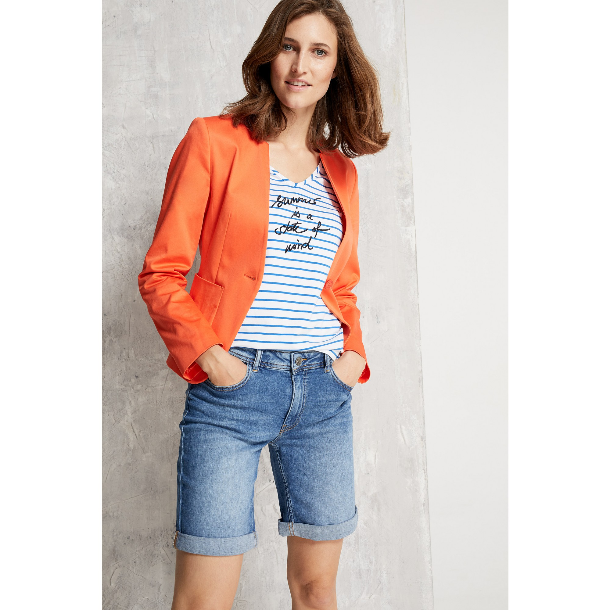 Baumwoll/Stretch Blazer, papaya 91046060-0514