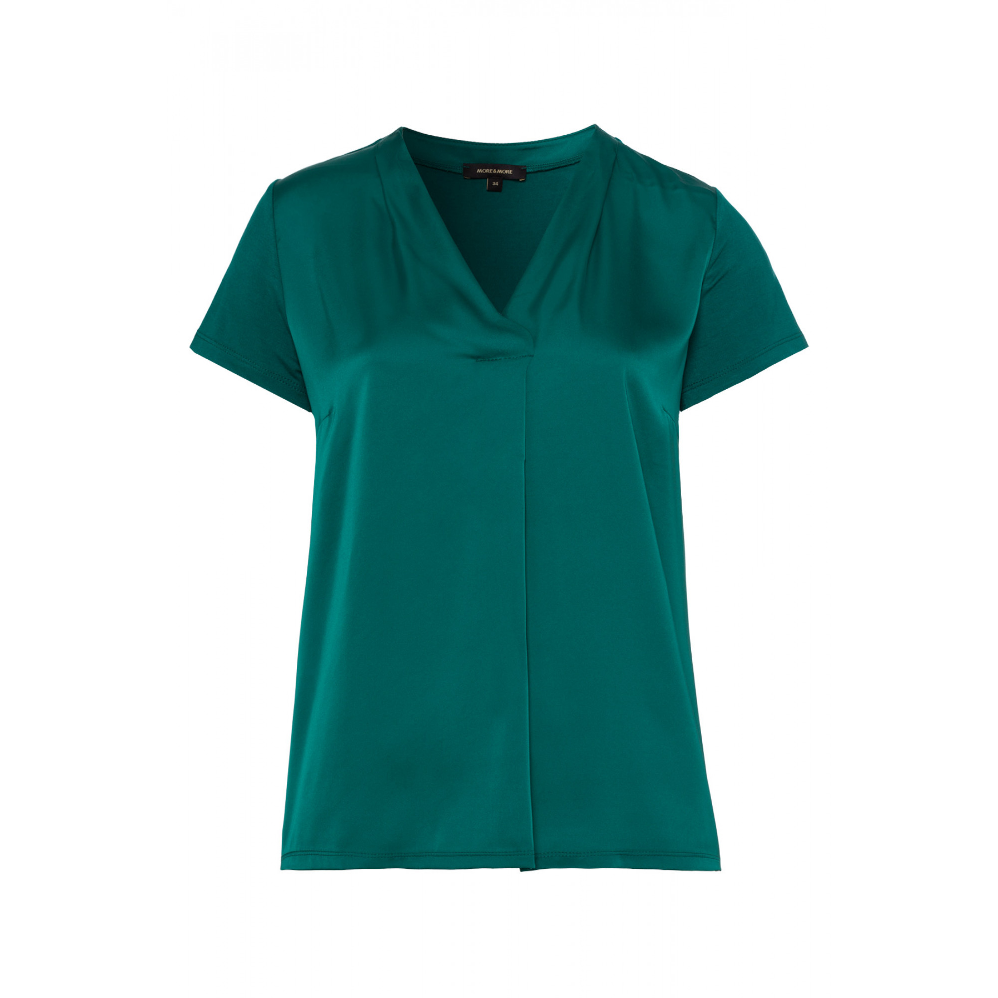 Blusenshirt, Satinfront, emerald green 91090555-0655 1