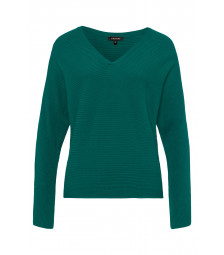 V-Neck Pulli, emerald green