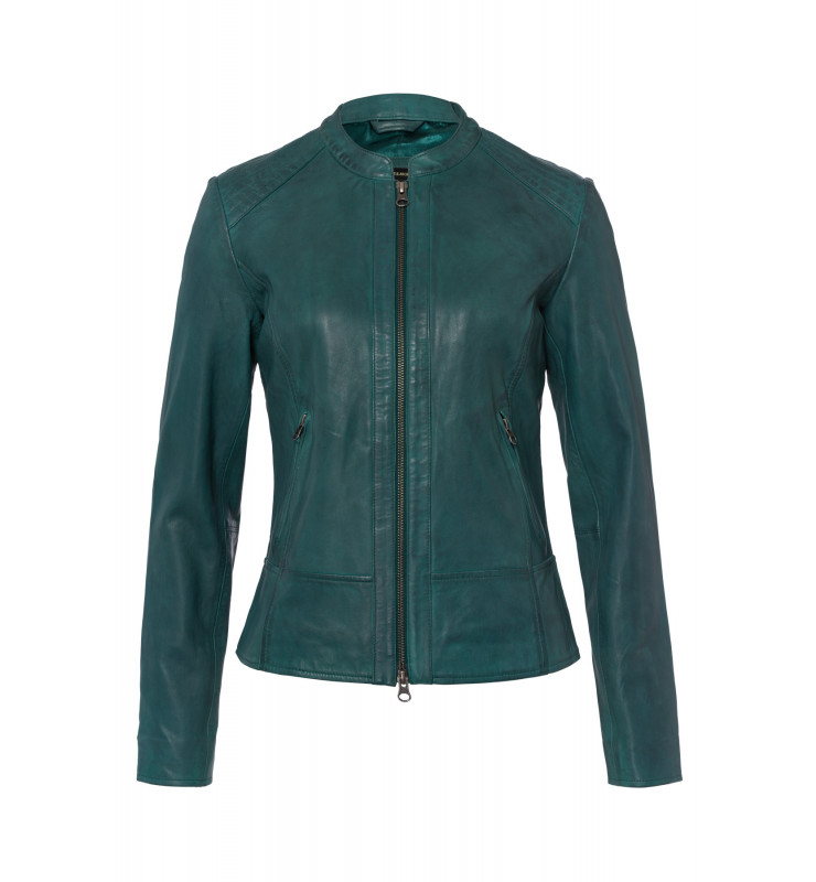 Lederjacke, emerald green 91098000-0655 1