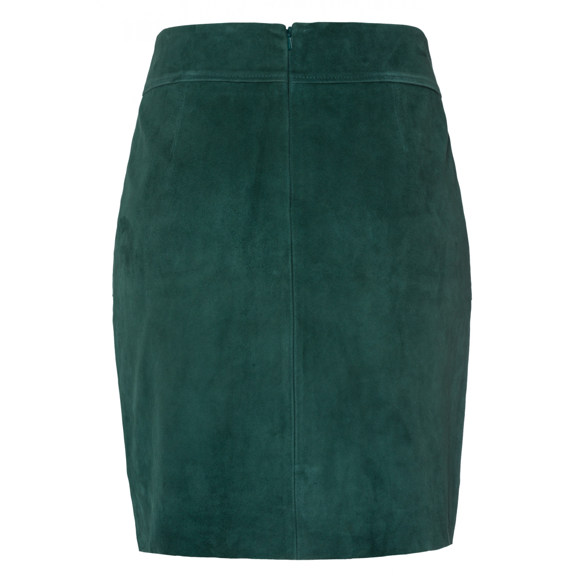Velourslederrock, emerald green 91098002-0655 2