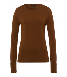 Feinstrick-Pullover, rusty brown