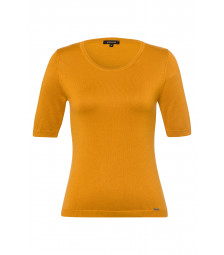 Feinstrick-Pullover, autumn yellow
