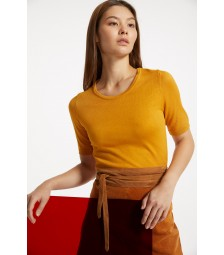 Feinstrick-Pullover, autumn yellow 91911513-0185