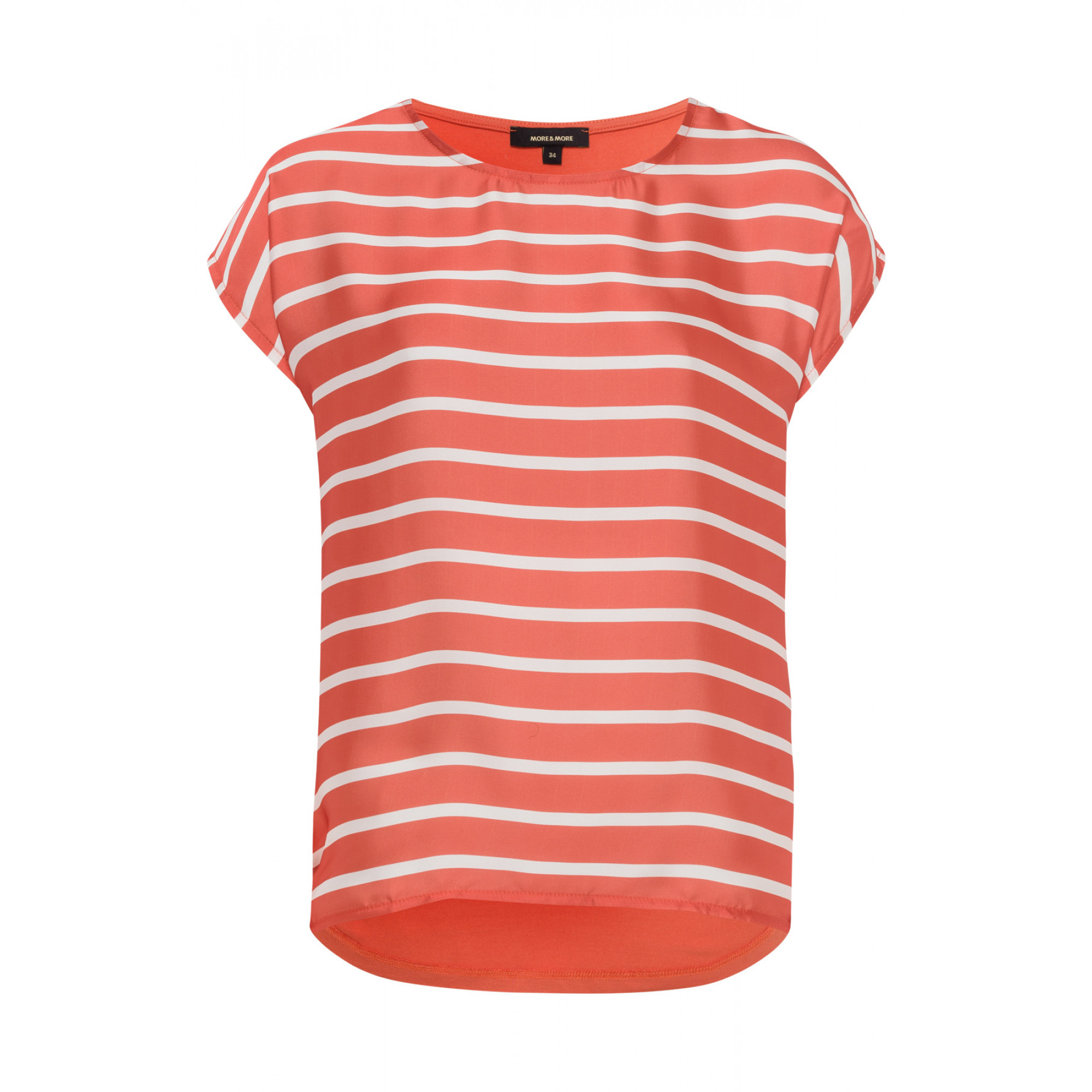 Shirt mit Satinfront, orange/weiß 91950020-2436 1