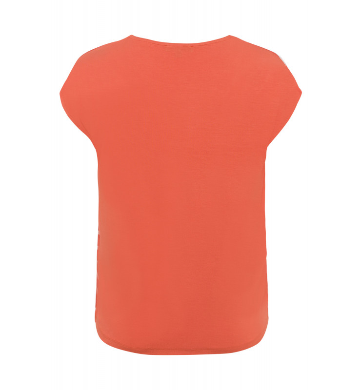 Shirt mit Satinfront, orange/weiß 91950020-2436 2