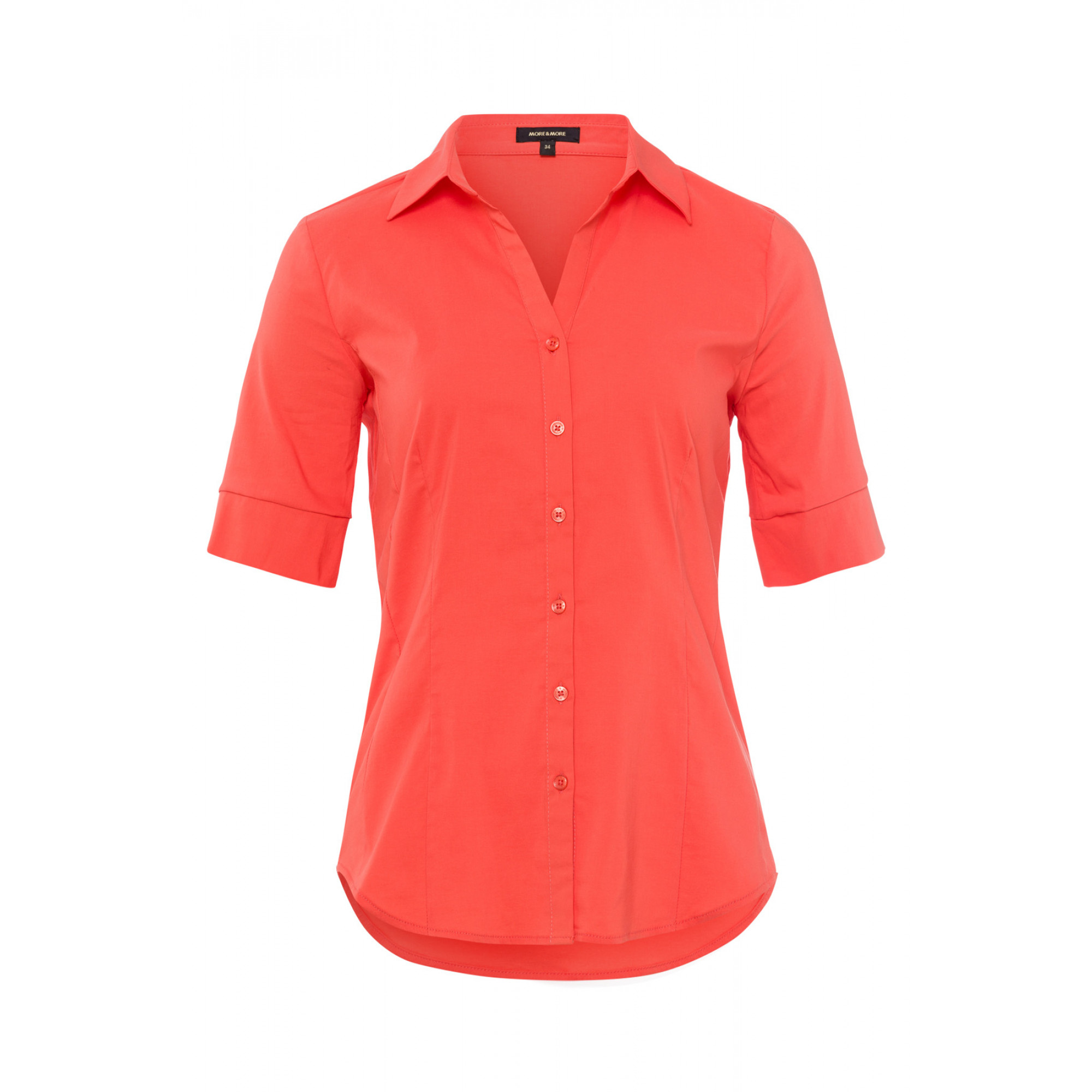 Baumwoll/Stretch Bluse, papaya 91952566-0514 1